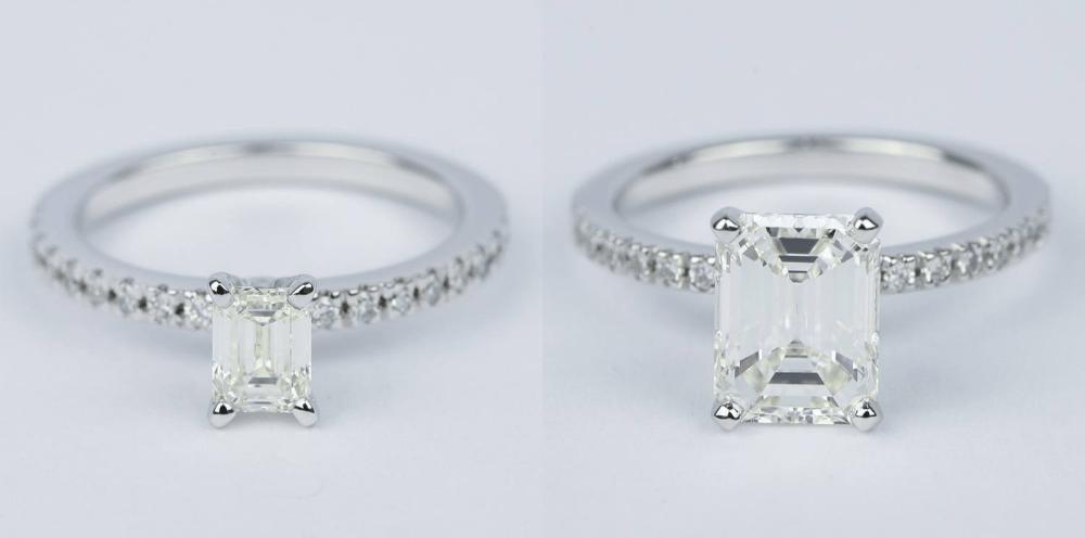 skinny band engagement rings