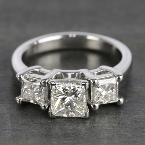 Three-Stone Princess Diamond Engagement Ring