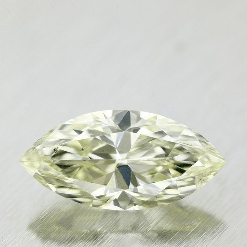 .99 Carat Marquise Loose Diamond, Light Green Yellow