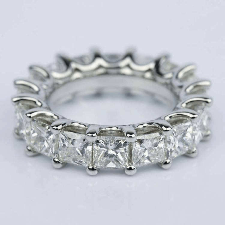 Custom Princess-Cut Diamond Eternity Band in Platinum