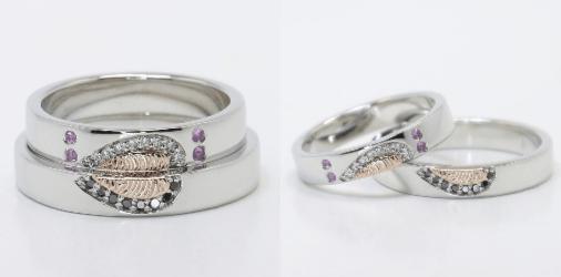 His & Hers Fingerprint Wedding Rings