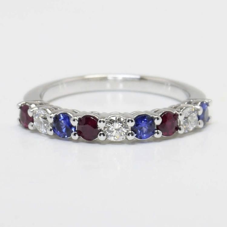 Nine Diamond & Gemstone Ring