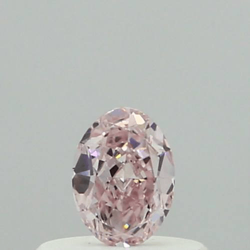 0.21 Carat Oval Loose Diamond, Fancy Pink, SI1, Ideal, GIA Certified