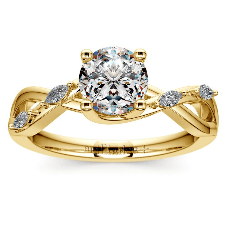 Florida Ivy Diamond Engagement Ring In Yellow Gold