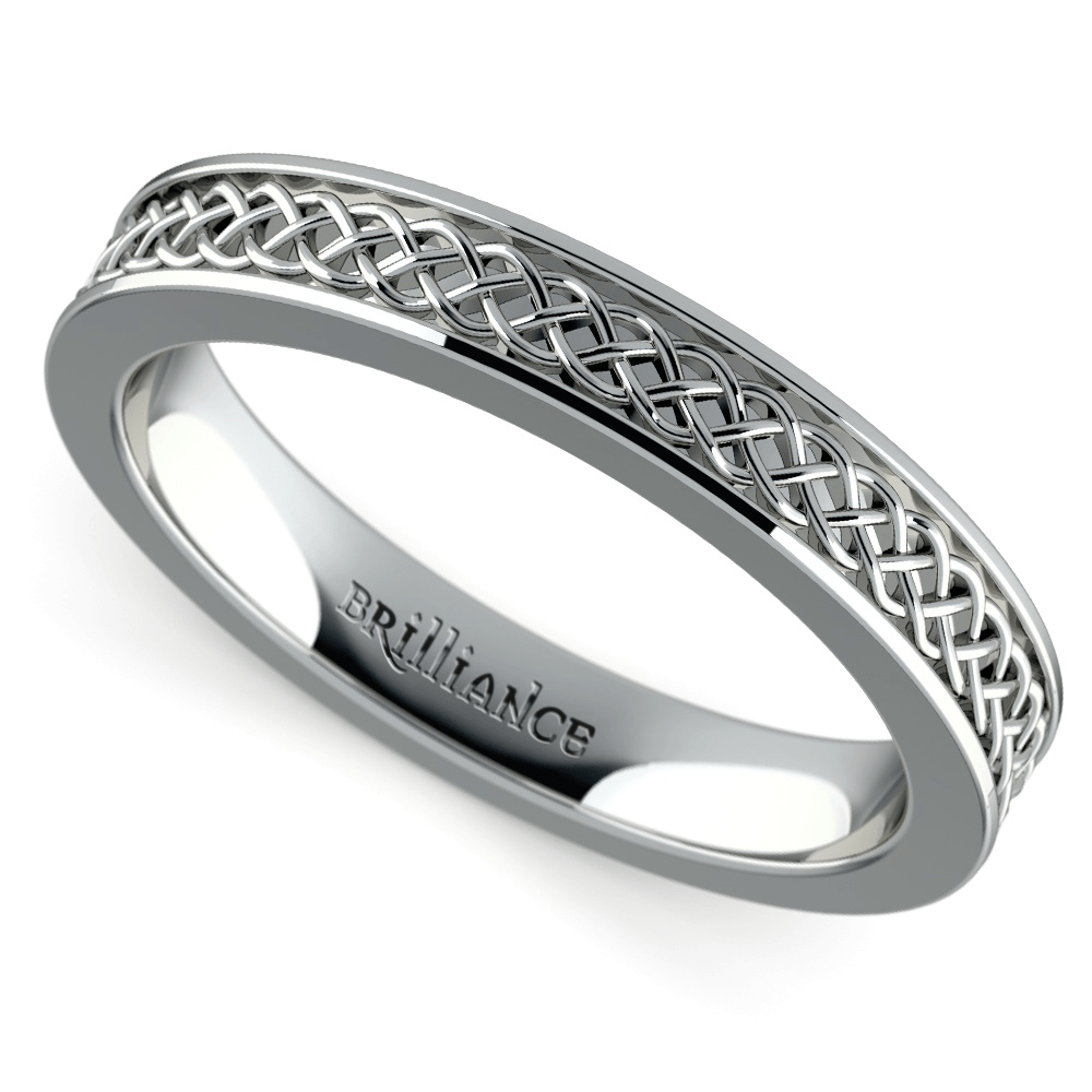 Celtic Knot Men's Wedding Ring In Platinum
