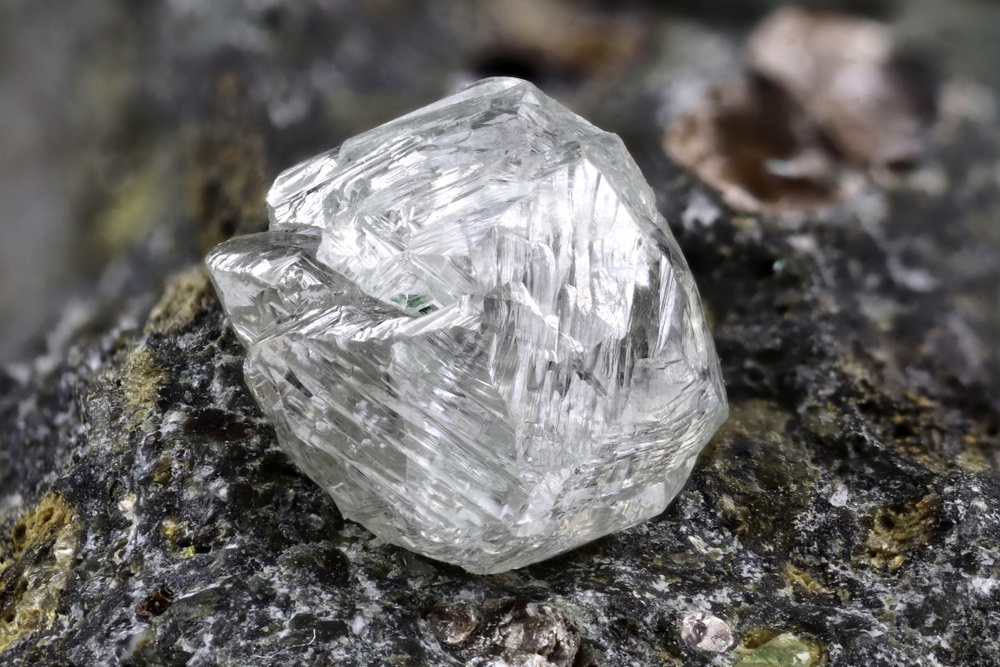 Rough diamond mined from the Earth